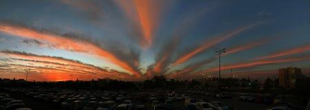Φανταστικά όμορφο ηλιοβασίλεμα στην μπύρα Sheva στοκ φωτογραφία με δικαίωμα ελεύθερης χρήσης