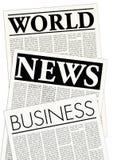 φανταστικές εφημερίδες Στοκ φωτογραφία με δικαίωμα ελεύθερης χρήσης
