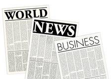 φανταστικές εφημερίδες Στοκ φωτογραφίες με δικαίωμα ελεύθερης χρήσης