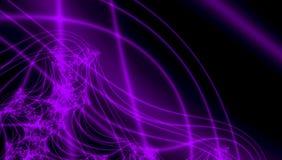 Φανταστικές τρισδιάστατες υπεριώδη ακτίνες και fractals στο σκοτεινό σκηνικό διανυσματική απεικόνιση