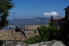 Φανταστική άποψη ταξιδιού το καλοκαίρι Σικελία, Ιταλία Στοκ φωτογραφία με δικαίωμα ελεύθερης χρήσης
