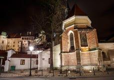 Φανταστική άποψη της νύχτας βασιλικό Wawel Castle, Κρακοβία Στοκ εικόνες με δικαίωμα ελεύθερης χρήσης