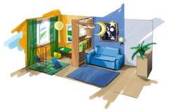 φανταστική αίθουσα s παιδ& Στοκ φωτογραφίες με δικαίωμα ελεύθερης χρήσης