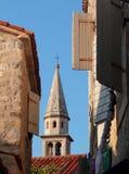 Φανταστική ανατολή στη μεσαιωνική πόλη (Budva, Μαυροβούνιο) Στοκ Εικόνες