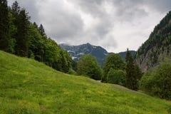 Φανταστική εναέρια άποψη σχετικά με το διάσημο χωριό Hallstatt και την αλπική λίμνη, αυστριακές Άλπεις, Salzkammergut, Αυστρία, Ε Στοκ εικόνα με δικαίωμα ελεύθερης χρήσης