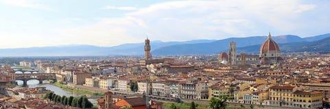 φανταστική ευρεία άποψη της Φλωρεντίας με Palazzo Vecchio και το Arn Στοκ Φωτογραφίες