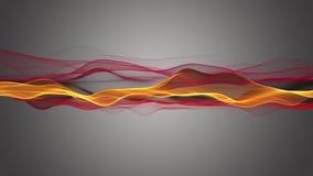 Φανταστική ζωτικότητα με το αντικείμενο κυμάτων μορίων στο σε αργή κίνηση, βρόχο 4K 4096x2304 ελεύθερη απεικόνιση δικαιώματος