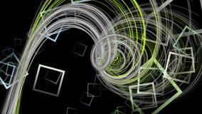 Φανταστική ζωτικότητα με το αντικείμενο λωρίδων και τετράγωνα στο σε αργή κίνηση, βρόχο 4096x2304 4K διανυσματική απεικόνιση