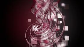 Φανταστική ζωτικότητα με το αντικείμενο λωρίδων και τετράγωνα στο σε αργή κίνηση, βρόχο 4096x2304 4K ελεύθερη απεικόνιση δικαιώματος