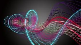 Φανταστική ζωτικότητα με το αντικείμενο λωρίδων στο σε αργή κίνηση, βρόχο 4K 4096x2304 απεικόνιση αποθεμάτων