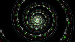 Φανταστική ζωτικότητα με το αντικείμενο λωρίδων μορίων στο σε αργή κίνηση, βρόχο 4096x2304 4K απόθεμα βίντεο