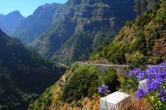 Φανταστική θέα βουνού στη Μαδέρα στοκ φωτογραφίες