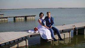 Φανταστική καρδιά newlyweds απόθεμα βίντεο