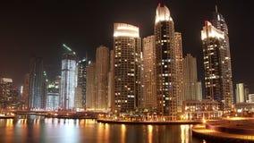 Φανταστική μαρίνα του Ντουμπάι νύχτας, Ηνωμένα Αραβικά Εμιράτα φιλμ μικρού μήκους