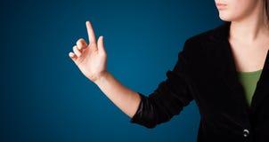 φανταστική πατώντας γυναί&kapp Στοκ Εικόνες