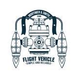Φανταστική πετώντας μηχανή ελεύθερη απεικόνιση δικαιώματος