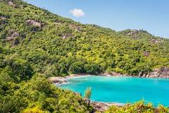 Φανταστική σημαντική παραλία Anse - νησί Mahe, Σεϋχέλλες Στοκ Φωτογραφία