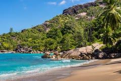 Φανταστική σημαντική παραλία Anse - νησί Mahe, Σεϋχέλλες Στοκ φωτογραφίες με δικαίωμα ελεύθερης χρήσης