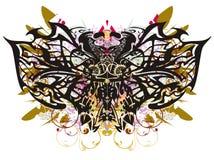 Φανταστικοί ζωηρόχρωμοι παφλασμοί πεταλούδων Grunge Στοκ Εικόνα