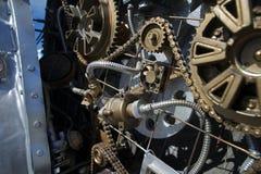 Φανταστικός μηχανισμός μιας ατμός-μηχανής Στοκ Εικόνες
