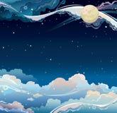 Φανταστικός νυχτερινός ουρανός. διανυσματική απεικόνιση