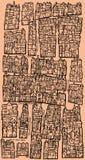 Φανταστικός παλαιός χάρτης διανυσματική απεικόνιση