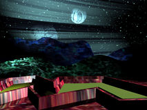 φανταστικός πλανήτης διανυσματική απεικόνιση