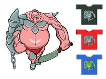 φανταστικός πολεμιστής επίσης corel σύρετε το διάνυσμα απεικόνισης Σχεδιασμός για τις μπλούζες Στοκ εικόνες με δικαίωμα ελεύθερης χρήσης