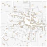Φανταστικός χάρτης κτηματολόγιων Στοκ Φωτογραφίες