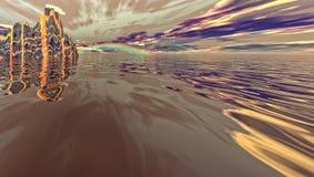 Φανταστικός ωκεανός - περίληψη Στοκ Εικόνες