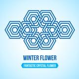 Φανταστικό εικονίδιο λουλουδιών κρυστάλλου διανυσματική απεικόνιση