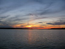 φανταστικό ηλιοβασίλεμα Στοκ φωτογραφία με δικαίωμα ελεύθερης χρήσης