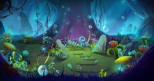 Φανταστικό και μαγικό δάσος Στοκ Εικόνα