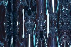 Φανταστικό μπλε να λάμψει διάστημα Αφηρημένη μπλε ανασκόπηση Στοκ Φωτογραφία