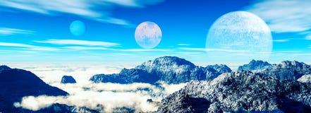 φανταστικό τοπίο Όμορφες απόψεις των βουνών και του βαθιού β Στοκ φωτογραφία με δικαίωμα ελεύθερης χρήσης