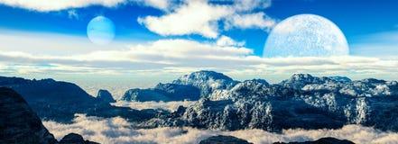 φανταστικό τοπίο Όμορφες απόψεις των βουνών Στοκ φωτογραφίες με δικαίωμα ελεύθερης χρήσης