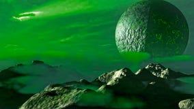 Φανταστικό τοπίο Exoplanet Στοκ εικόνες με δικαίωμα ελεύθερης χρήσης