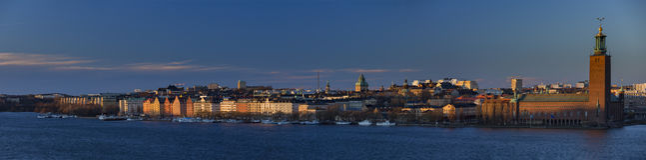 Φανταστικό χειμερινό φως στη Στοκχόλμη Στοκ εικόνες με δικαίωμα ελεύθερης χρήσης