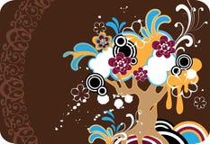 φανταστικό δέντρο ανθών Στοκ Εικόνα
