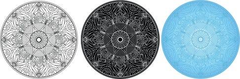 Φανταστικό mandala για το χρωματισμό του βιβλίου κύκλος προτύπων Στοκ φωτογραφία με δικαίωμα ελεύθερης χρήσης
