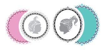 Φανταχτερά αντιπαραβαλλόμενα ωοειδή και στρογγυλά πλαίσια Στοκ εικόνα με δικαίωμα ελεύθερης χρήσης