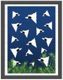 Φανταχτερή απεικόνιση ψαριών Guppies Στοκ Εικόνες