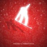 Φανταχτερή κάρτα Χριστουγέννων Στοκ φωτογραφίες με δικαίωμα ελεύθερης χρήσης