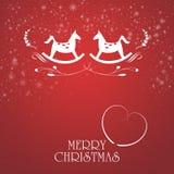 Φανταχτερή κάρτα Χριστουγέννων Στοκ φωτογραφία με δικαίωμα ελεύθερης χρήσης