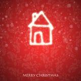 Φανταχτερή κάρτα Χριστουγέννων Στοκ Εικόνα