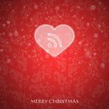 Φανταχτερή κάρτα Χριστουγέννων Στοκ Εικόνες