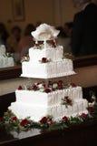 φανταχτερός γάμος κέικ στοκ εικόνες