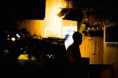 Φανταχτερός καφές με λίγο φως στοκ εικόνες