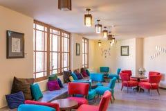 Φανταχτερός καφές στο ιστορικό σπίτι Ameri σε Kashan, Ιράν Στοκ φωτογραφίες με δικαίωμα ελεύθερης χρήσης