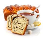 φανταχτερό γλυκό τσάι φλυ& Στοκ εικόνα με δικαίωμα ελεύθερης χρήσης